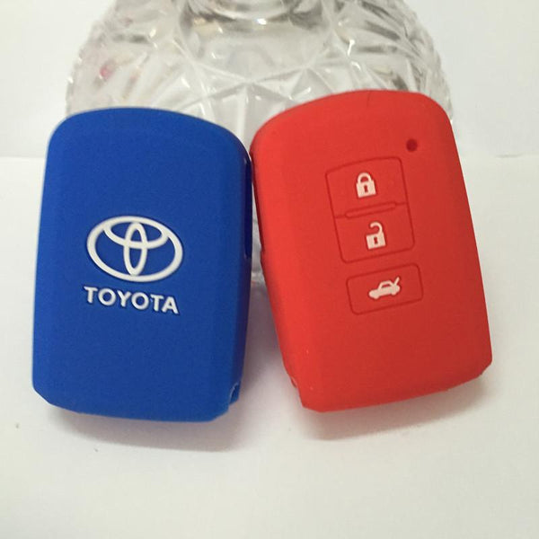 silicone car key case cover for toyota 2012 and 2007 camry 3 buttons slicone remote case for Toyota key chain accessories