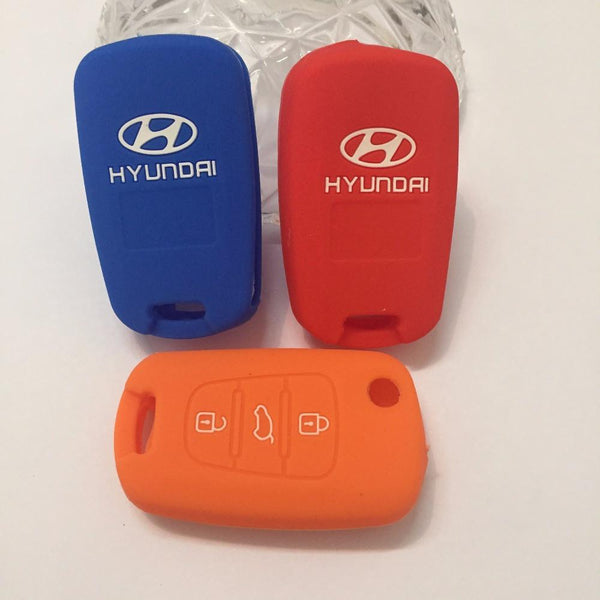 Silicone Key Cover Car for Hyundai Key chain For Remote Control for HYUNDAI i30 Verna Veloster car key buttons flip key