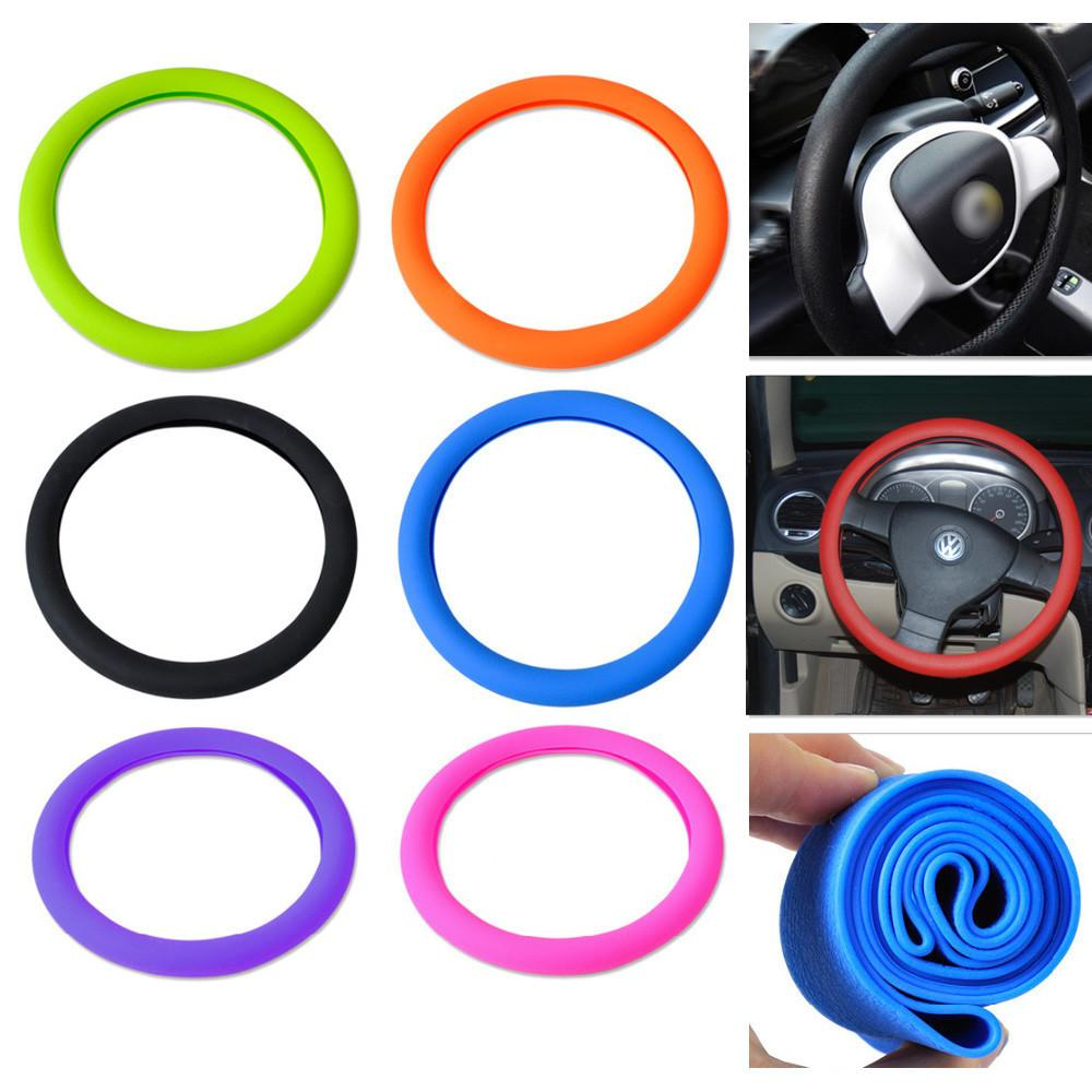 Soft Silicone Steering Wheel Cover Shell Skidproof Eco Friendly for Mercedes Audi Nissan VW Peugeot Mazda