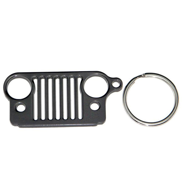 Stainless Steel For Jeep Grill Key Chain Keychain Metal Chrome Key Ring For Jeep Wrangler Accessories Enthusiasts
