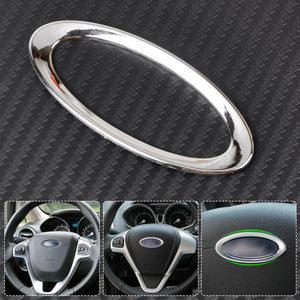 Steering Wheel Center Paillette Decoration Ring Cover Airbag Mark for Ford Focus 2 3 Fiesta Mondeo Ecosport Kuga Escape