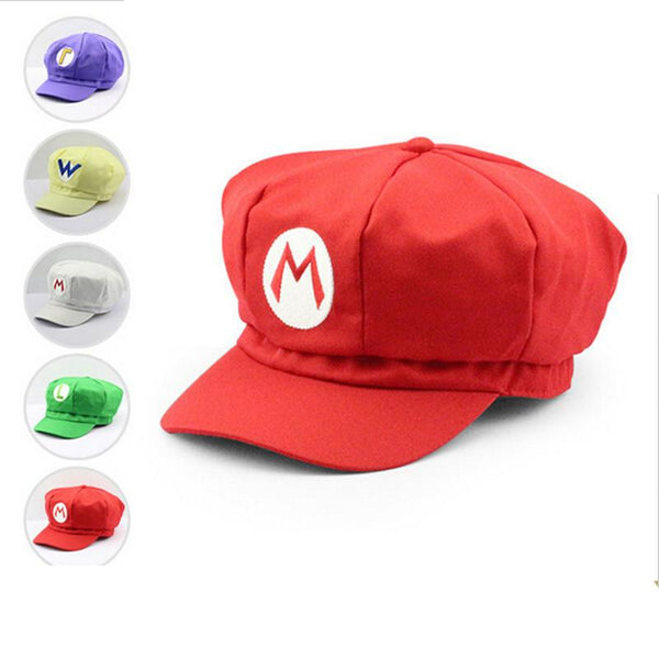 Super Mario Plush Toys Cotton Plush Caps Mario Luigi Wario Waluigi Cosplay Hat Plush Toys Holloween