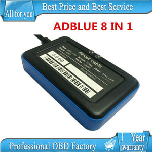support Euro 6 A+quality 2015 est Adblue Emulator 8-in-1 v3 with Programing Adapter V3.0 with NOx sensor 8 in 1