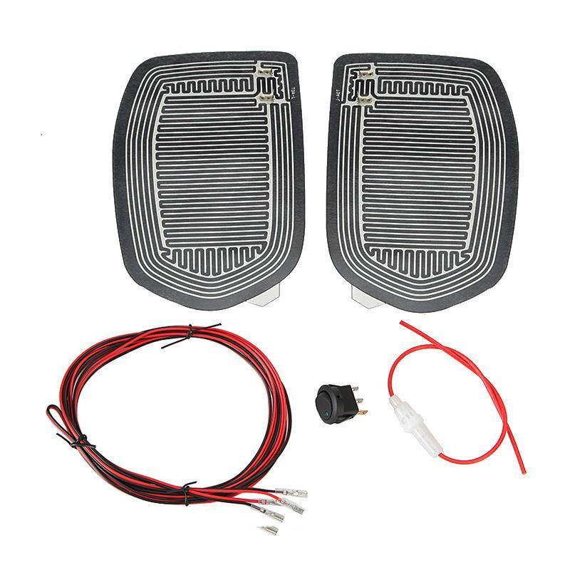 Universal Quick Warm 12V Car Side Mirror Glass Heat Heated Heater Defogger Pad Mat For Vehicles Cars