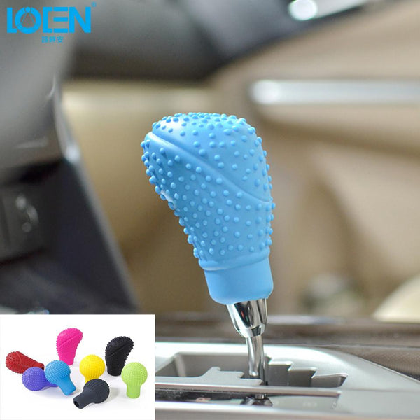 Universal Non-slip Soft Silicone Car Gear Shift Collars Lever Knob Shifter Cover Replacement Car Styling For Auto Colorful Cool