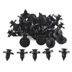 Useful 8mm Rivet Push Clip Black Cars Lined Cover Barbs Christmas Tree Rivet Fasteners Auto Fasteners For Cars