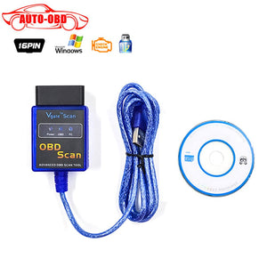 Vehicle Diagnostic Tool OBD2 OBD-II Vgate ELM327 USB OBD Scan USB Diagnostic Scanner Work With OBD2 Vehicle USB OBD2 Scan