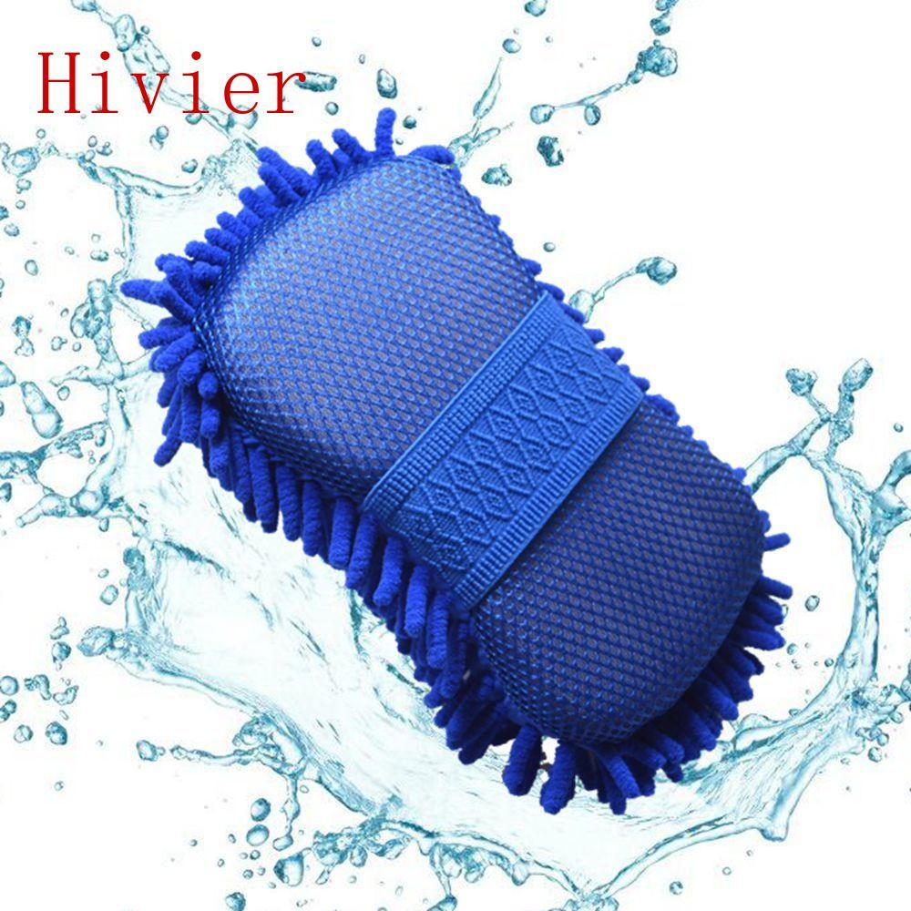 Real Microfiber Car Washer Cleaning Care Detailing Brushes Washing Towel Auto Gloves Styling Supplies Accessories