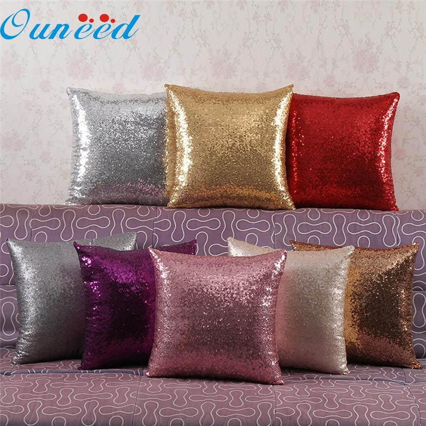 Zero Solid Color Glitter Sequins Throw Pillow Case Cafe Home Decor Cushion Covers