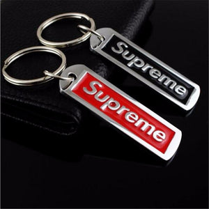 Zinc Alloy Key Chain Letters Supreme Car Keychain Key Ring Waist Hanging Ornaments Key Fob Keyring Family Lovers Couple