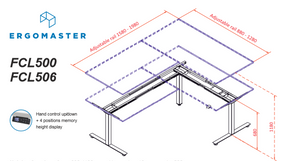 Flexi Sit Stand Electric Desk Frames