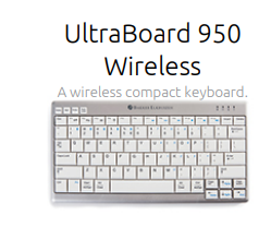 Ultraboard 950 wireless compact keyboard
