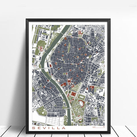 Famous Cities Retro Canvas - fenston-white