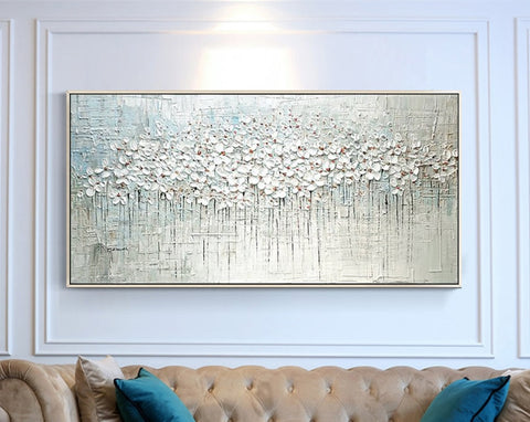 Abstract Oil Painting on Canvas - fenston-white