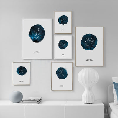 Astrology/Constellation Star Wall Canvas - fenston-white