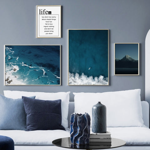 Blue Ocean Canvas - fenston-white
