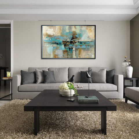 Abstract Oil Painting Printed Canvas - fenston-white