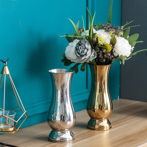 Stainless Steel Metal Vase - fenston-white