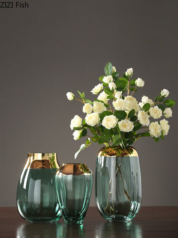 Gold & Glass 2 Tone Vase - fenston-white