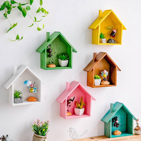 Colored House Wall Shelf - fenston-white