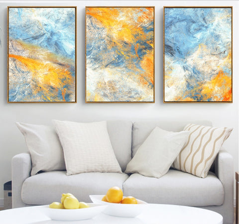 Blue and Yellow Dream Canvas - fenston-white