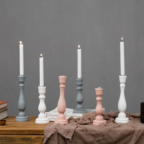 Simplistic Classic Candle Holder - fenston-white