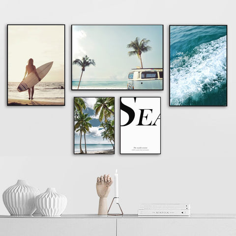 Beach theme Canvas Set - fenston-white