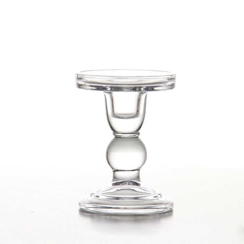 Glass Candle Holder - fenston-white