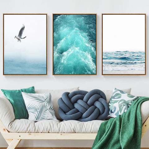 Blue Sea themed Nordic Canvas - fenston-white