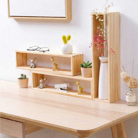 Nordic Wooden Shelf - fenston-white