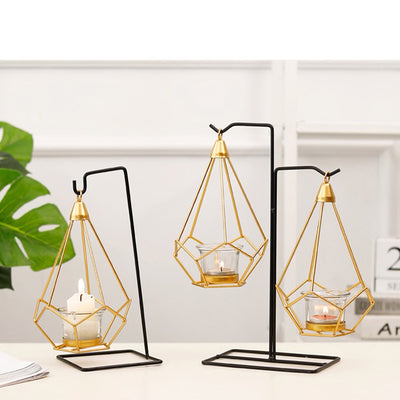 'Hex' Hanging Candle Holder - fenston-white