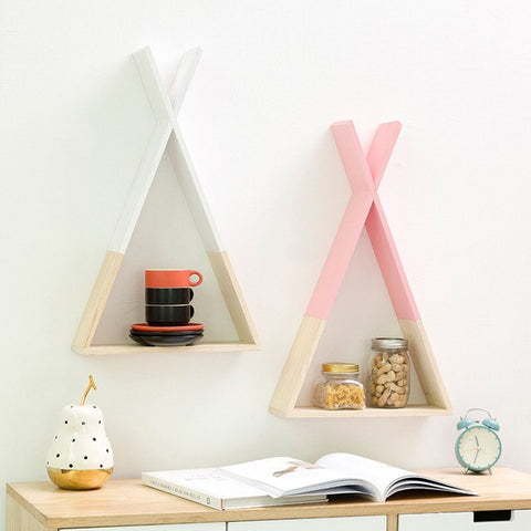 Nordic 'tent' shaped decorative shelf - fenston-white