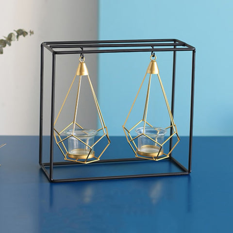 'Hex' Swinging Candle Holder - fenston-white