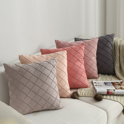 Suede Checked Cushion Cover - fenston-white