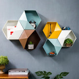 Metal Hexagonal Hanging Shelf - fenston-white