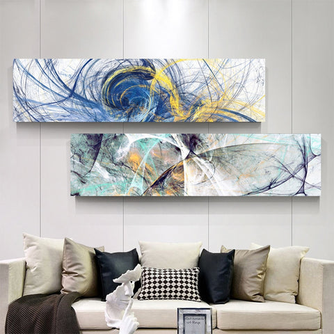 Modern Oil Painted style Printed Canvas - fenston-white
