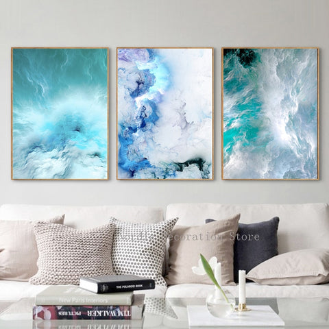 Abstract Canvas For Living Room - fenston-white