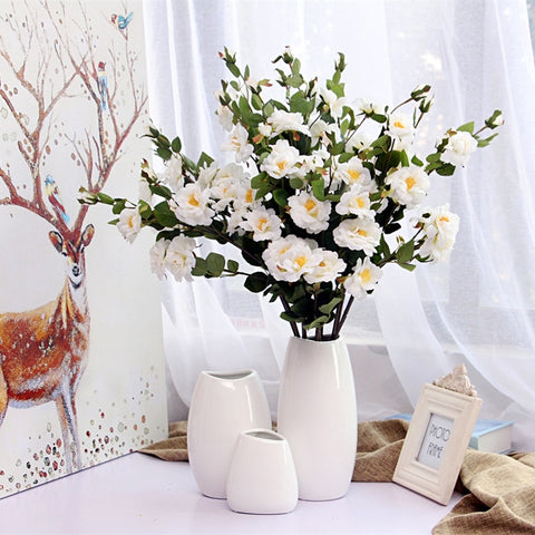 Staple White Ceramic Vase - fenston-white