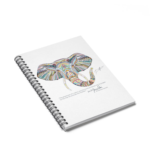 Accessory | Mandela Elephant | Spiral Notebook - Ruled Line