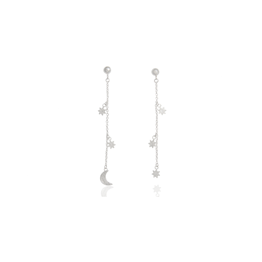 """Moon & Star"" Dangle Earrings"