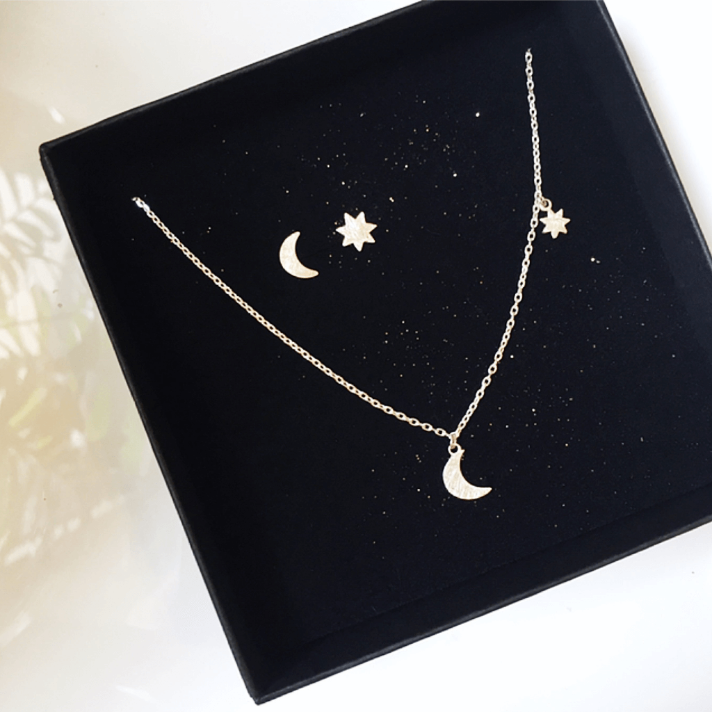 """Moon & Star"" Earrings"