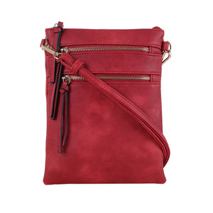 Double Zipper Slim Crossbody