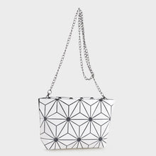 Load image into Gallery viewer, Isabelle Designer Inspired Geometric Mini Tote (87480A WHT)