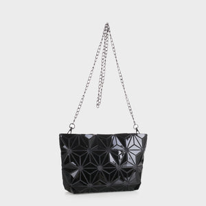 Isabelle Geometric Tote with Chain (87480B BKM)