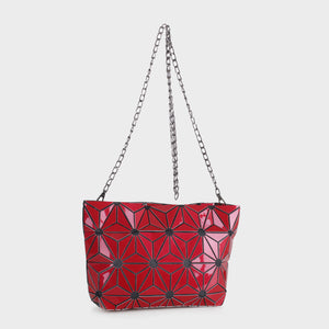 Isabelle Geometric Tote with Chain (87480B RDM)