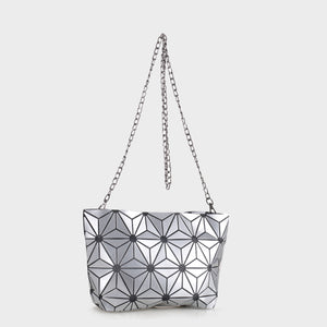 Isabelle Geometric Tote with Chain (87480B SL)
