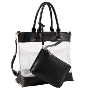 Clear Body Tote with Pouch
