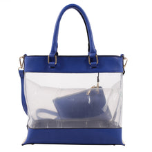 Load image into Gallery viewer, Clear Body Tote with Pouch