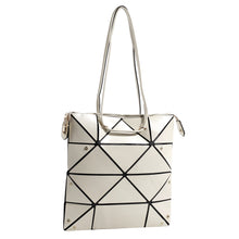 Load image into Gallery viewer, Isabelle Geometric Simple Tote with Zipper Top Closure (87650 OW)