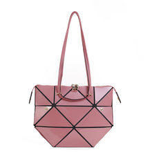 Load image into Gallery viewer, Isabelle Geometric Simple Tote with Zipper Top Closure (87650)